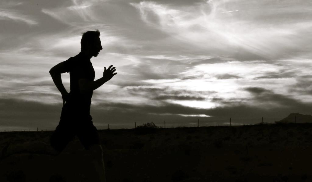 Danny jogging silhouette
